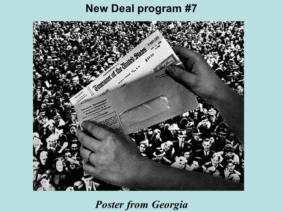 New Deal program #7 Poster from Georgia