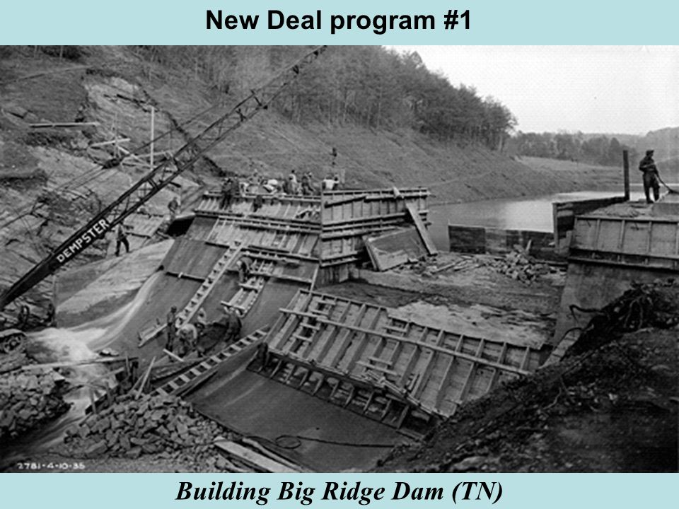 Building Big Ridge Dam (TN) New Deal program #1
