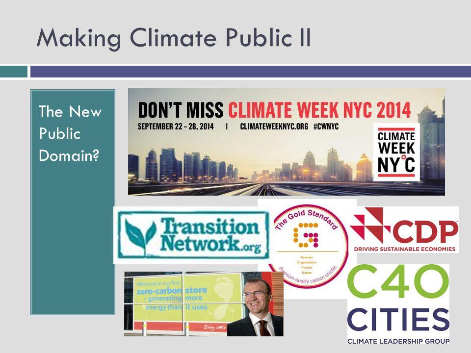 Making Climate Public II The New Public Domain.