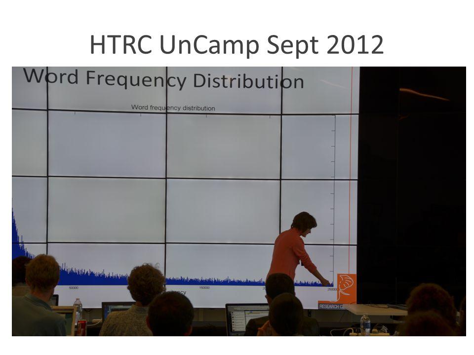 HTRC UnCamp Sept 2012