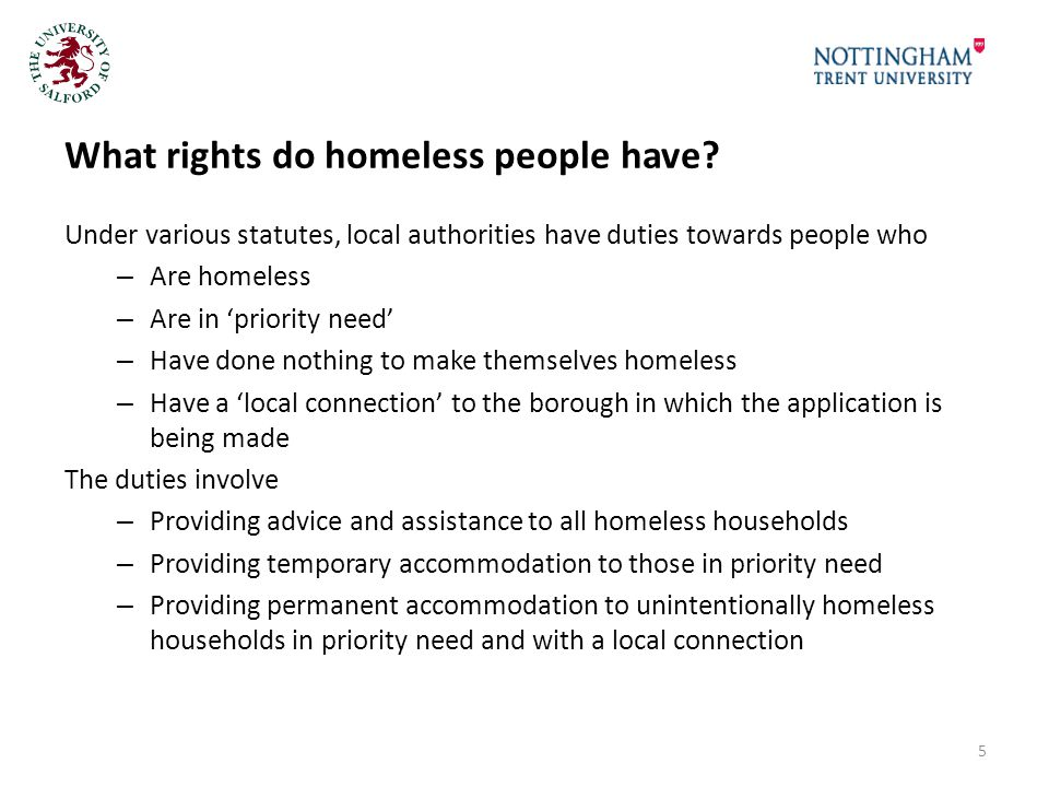 What rights do homeless people have.
