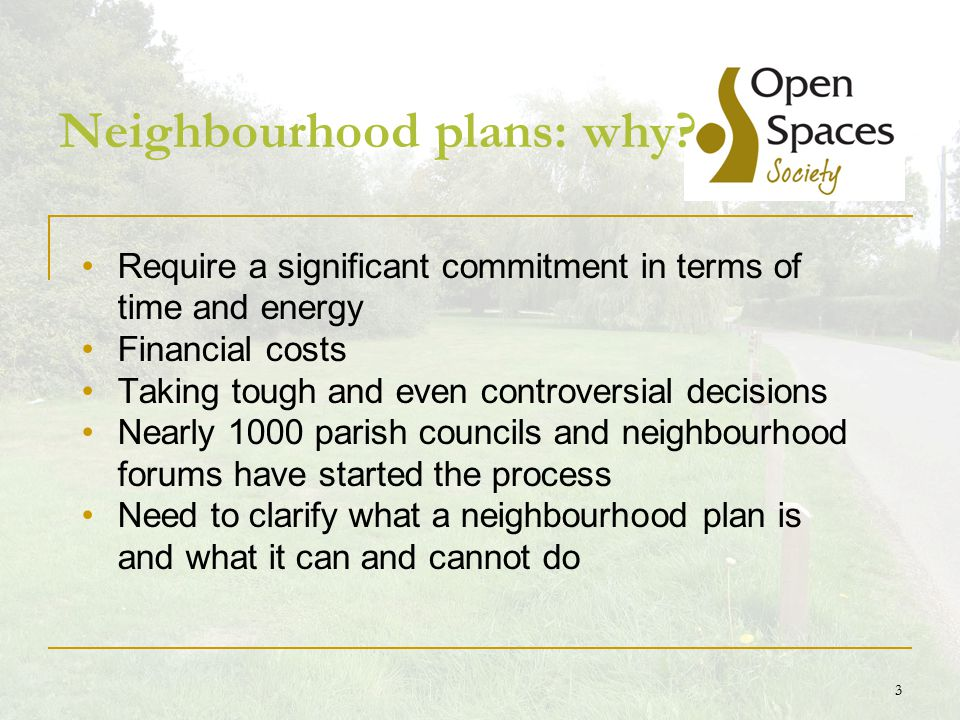 4 Neighbourhood planning Localism Act 2011 (November) New rights and powers to allow local communities to shape new development Taken forward by town/parish councils or neighbourhood forums Establish general planning policies for the development and use of land Neighbourhood development orders – no need for planning application