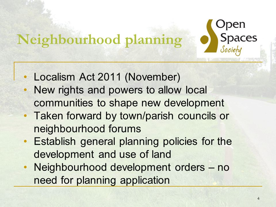 5 Conditions Must be legally compliant Must have regard to national planning policy Must be in general conformity with strategic policies in the local development plan Must be compatible with EU obligations and human rights requirements