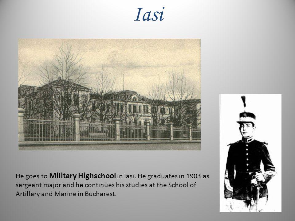 He goes to Military Highschool in Iasi.