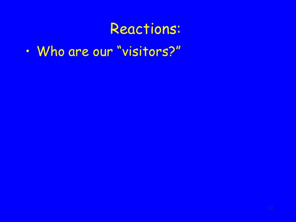 34 Reactions: Who are our visitors