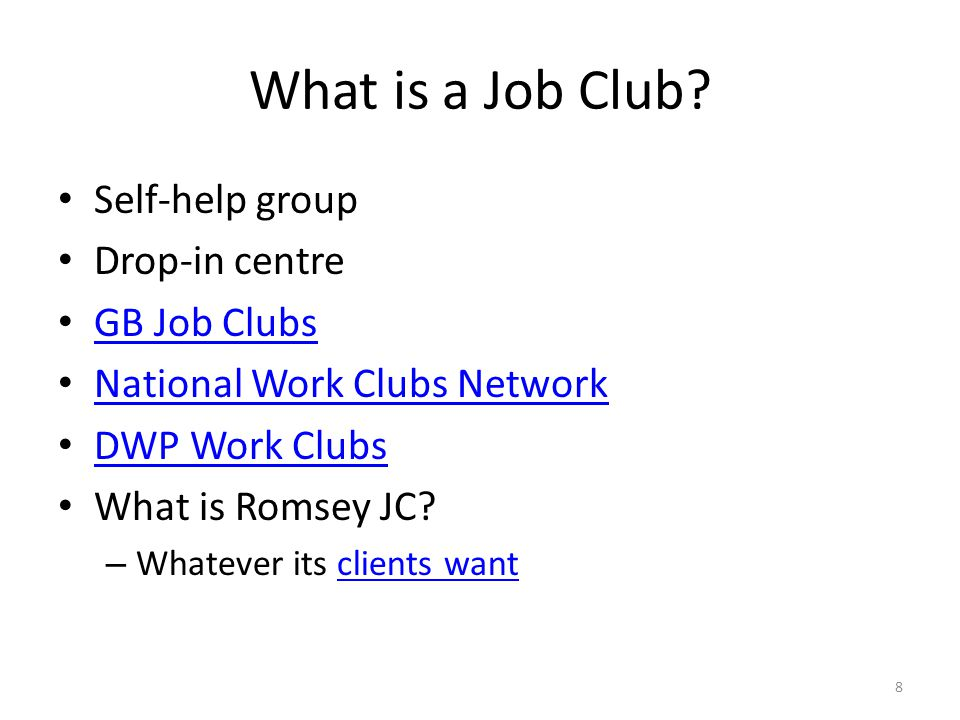 What is a Job Club.