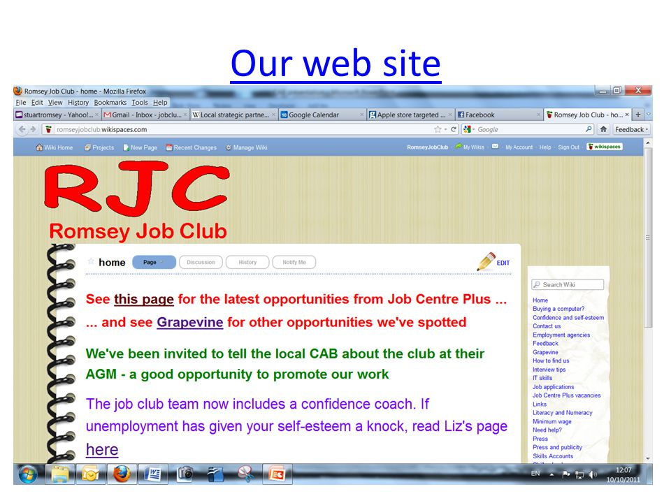 Our web site 9