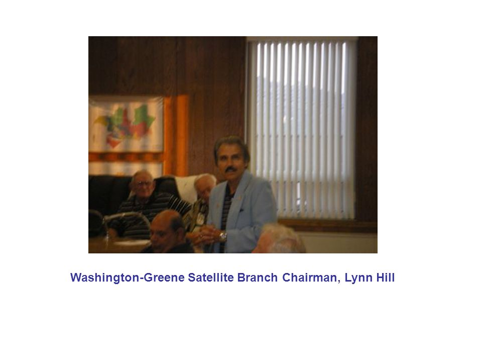Washington-Greene Satellite Branch Chairman, Lynn Hill