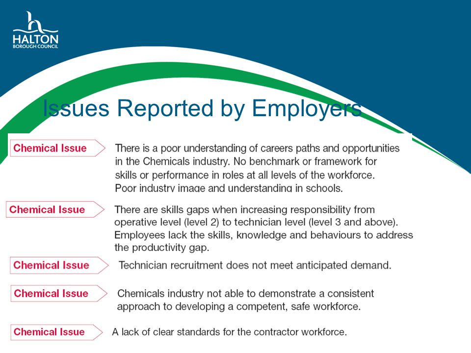 Issues Reported by Employers