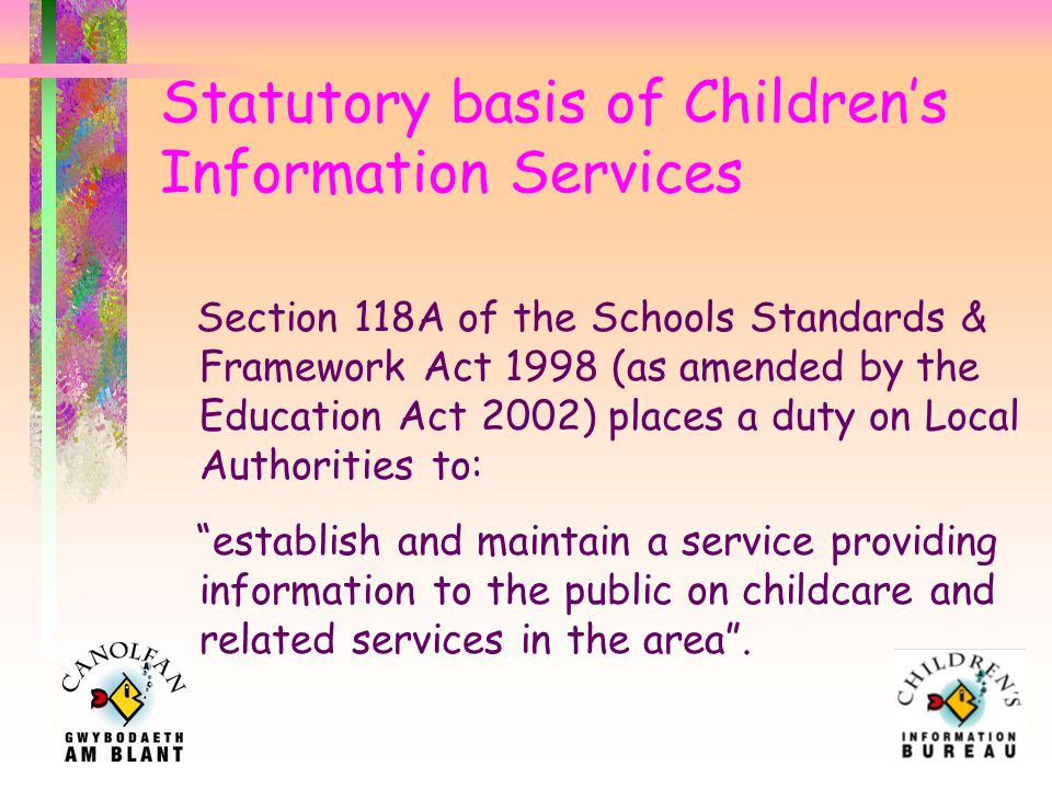 Outline of presentation Statutory basis of CIS Where are we now in Wrexham Where do we need to be by April '08 Where are we now in Wales What resources do we need