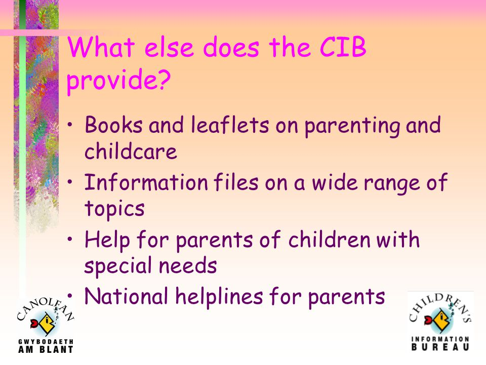 What information does the CIB provide.