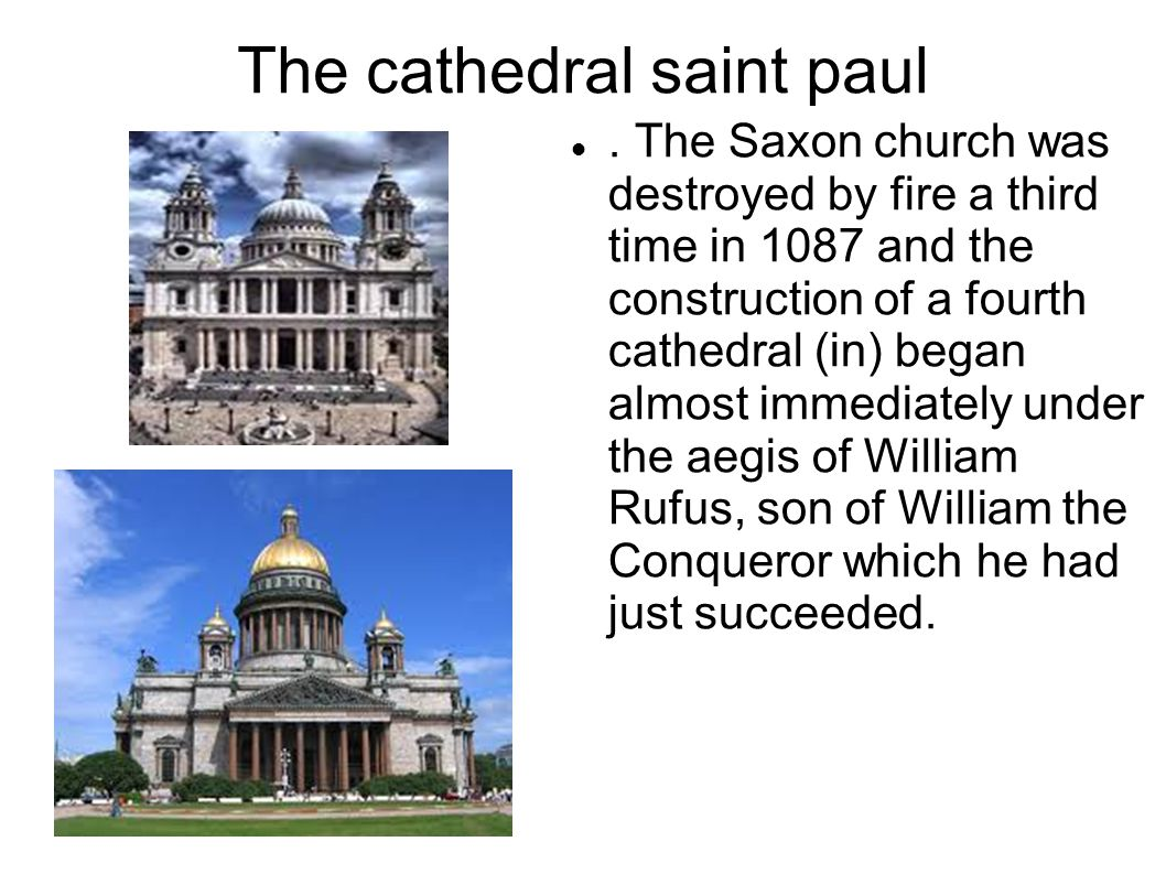 The cathedral saint paul.