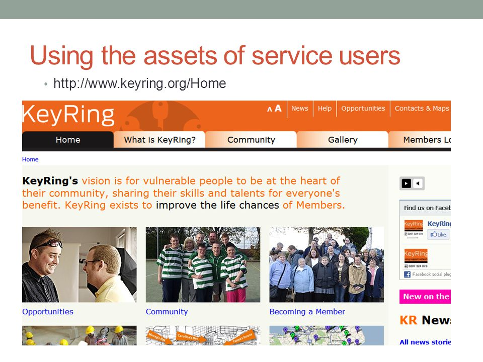 Using the assets of service users http://www.keyring.org/Home