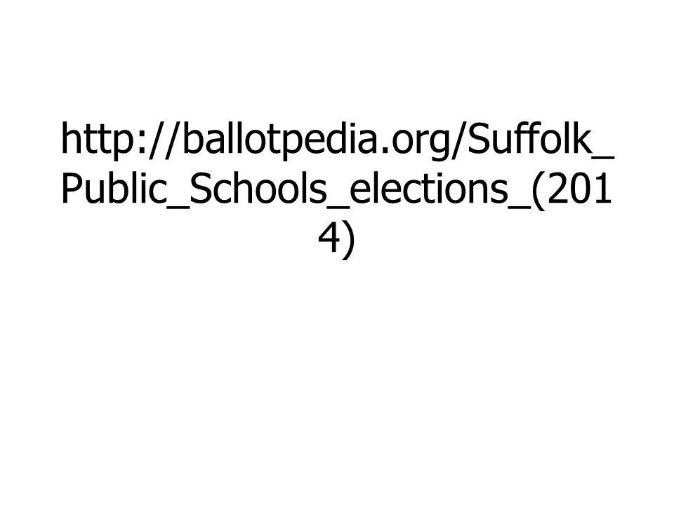 http://ballotpedia.org/Suffolk_ Public_Schools_elections_(201 4)