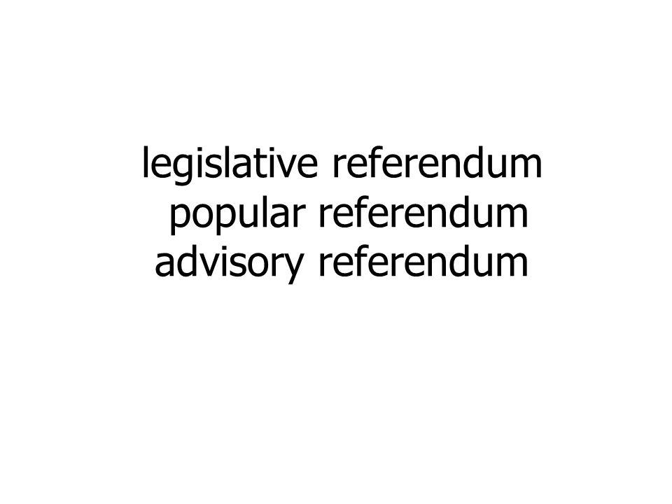 legislative referendum popular referendum advisory referendum