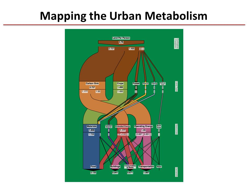 Mapping the Urban Metabolism