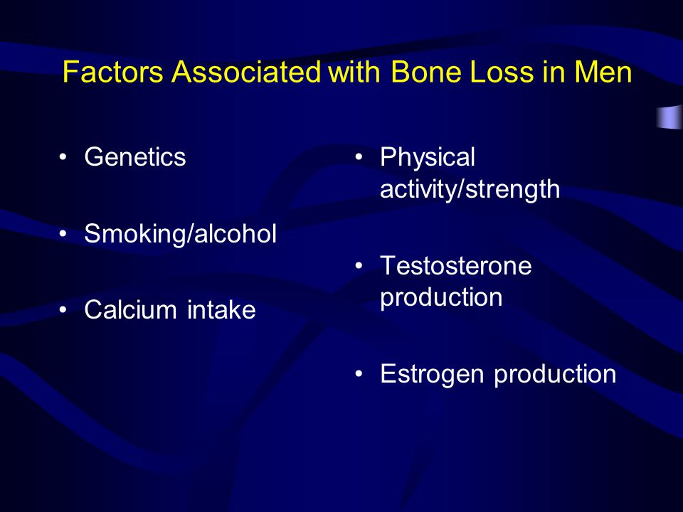 Medical Conditions Associated with Increased Risk of Osteoporosis COPD Cushing's syndrome Eating disorders Hyperparathyroidism Hypophosphatasia IBS RA, other autoimmune connective tissue disorders Insulin dependent diabetes Multiple sclerosis Multiple myeloma Stroke (CVA) Thyrotoxicosis Vitamin D deficiency Liver diseases Not an inclusive list