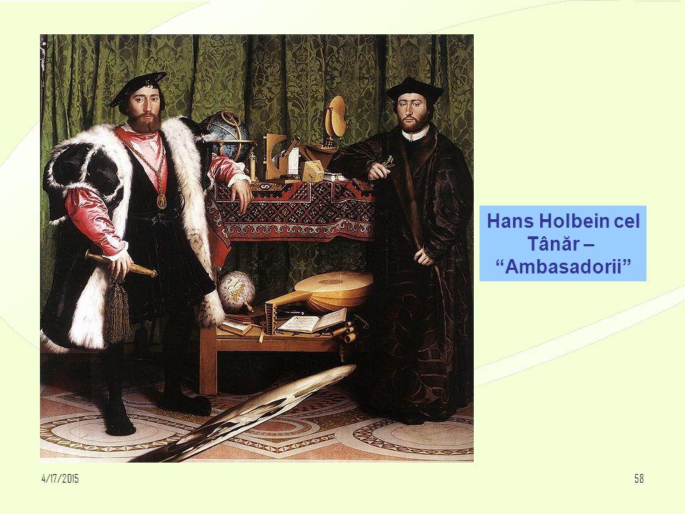"4/17/201558 Hans Holbein cel Tânăr – ""Ambasadorii"""