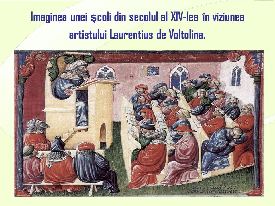 4/17/20159 Imaginea unei ş coli din secolul al XIV-lea în viziunea artistului Laurentius de Voltolina.