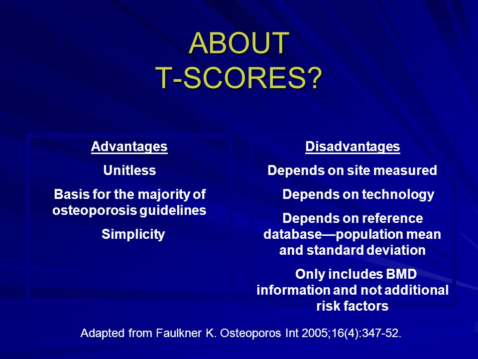 ABOUT T-SCORES.