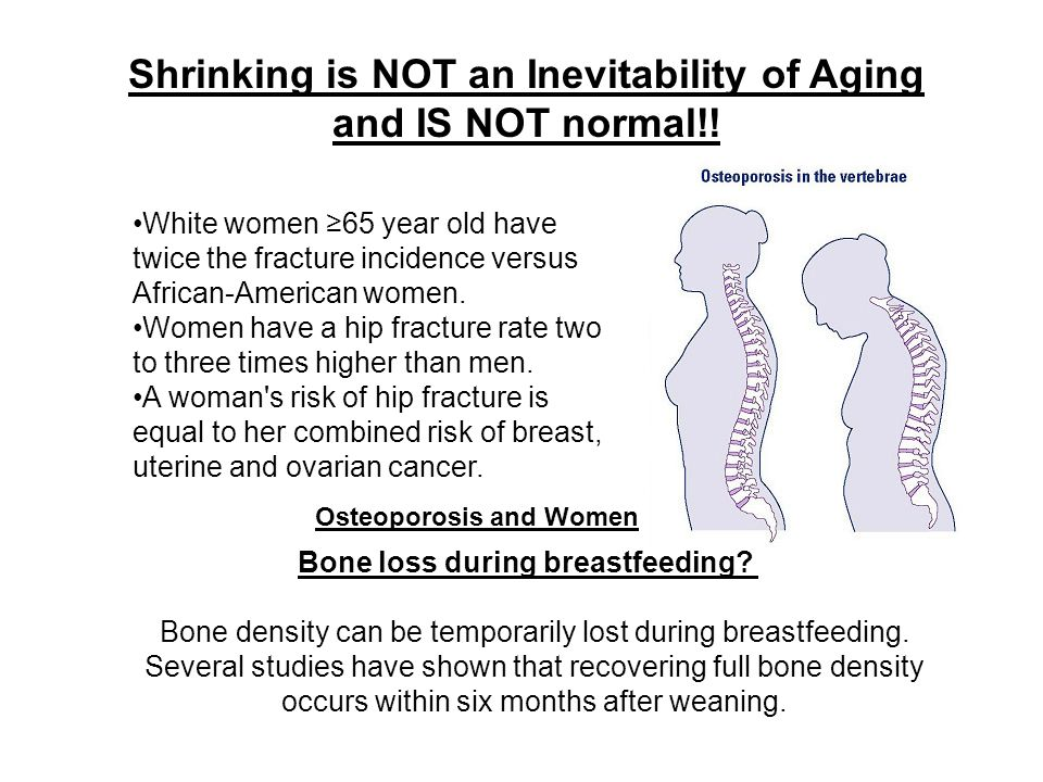 Bone density can be temporarily lost during breastfeeding.