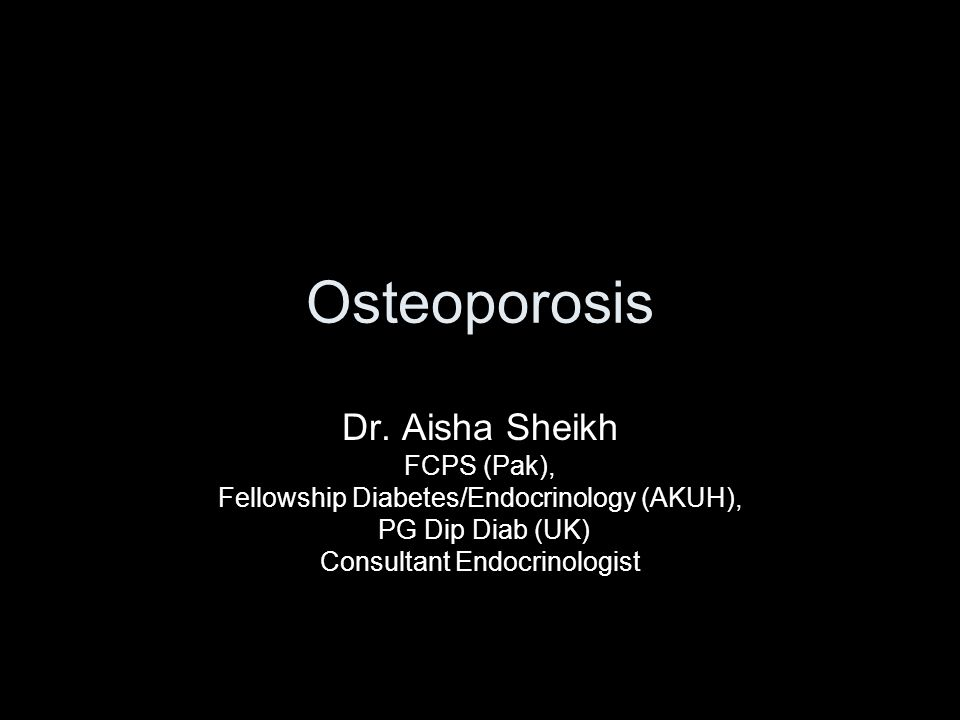 Osteoporosis Dr.