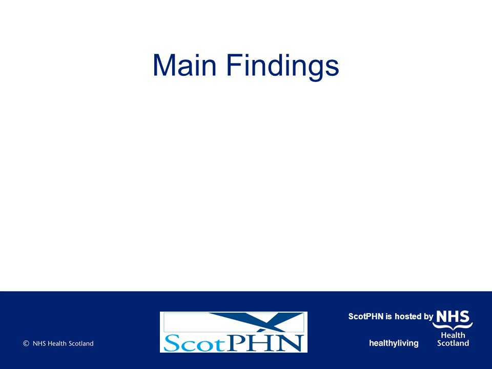 Main Findings ScotPHN is hosted by