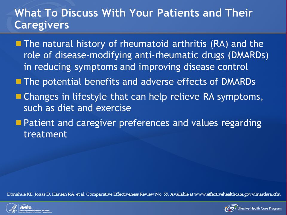  The natural history of rheumatoid arthritis (RA) and the role of disease-modifying anti-rheumatic drugs (DMARDs) in reducing symptoms and improving