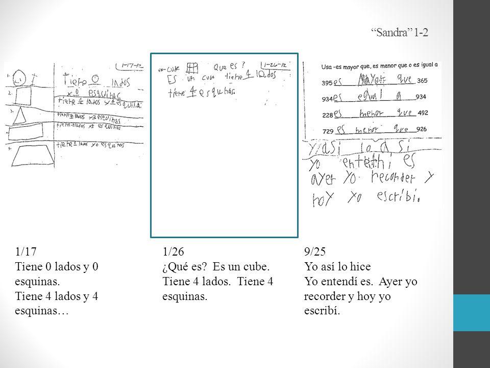 Sandra 1-2 9/25 Yo así lo hice Yo entendí es. Ayer yo recorder y hoy yo escribí.