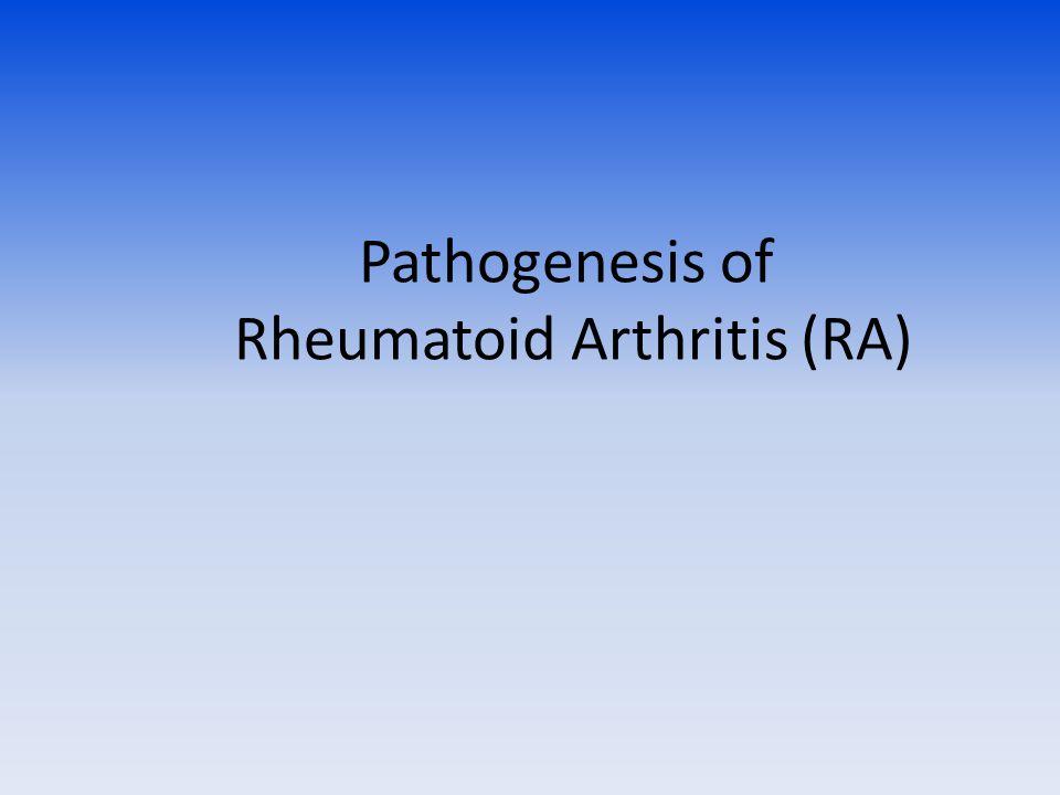 Pathogenesis of Rheumatoid Arthritis (RA)