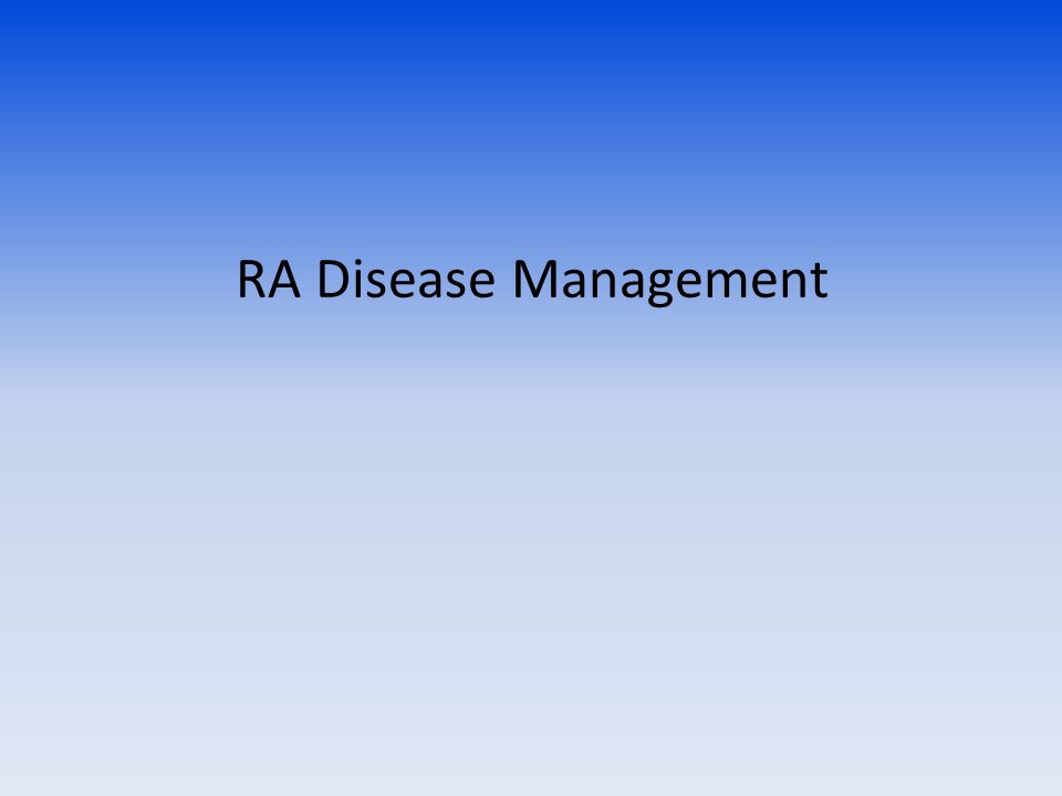 RA Disease Management