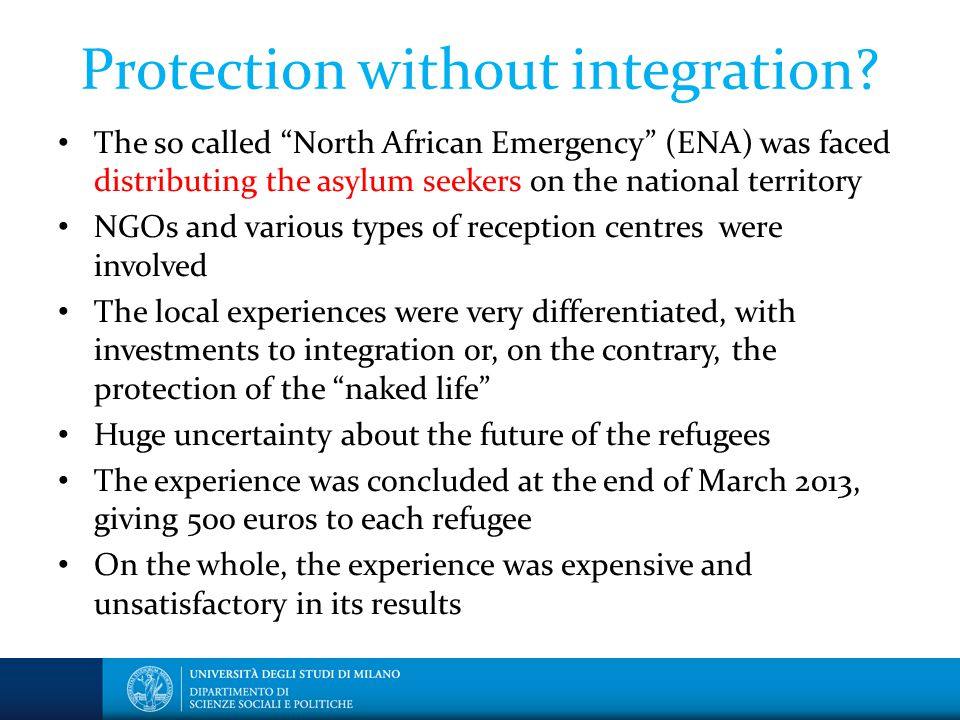 Protection without integration.