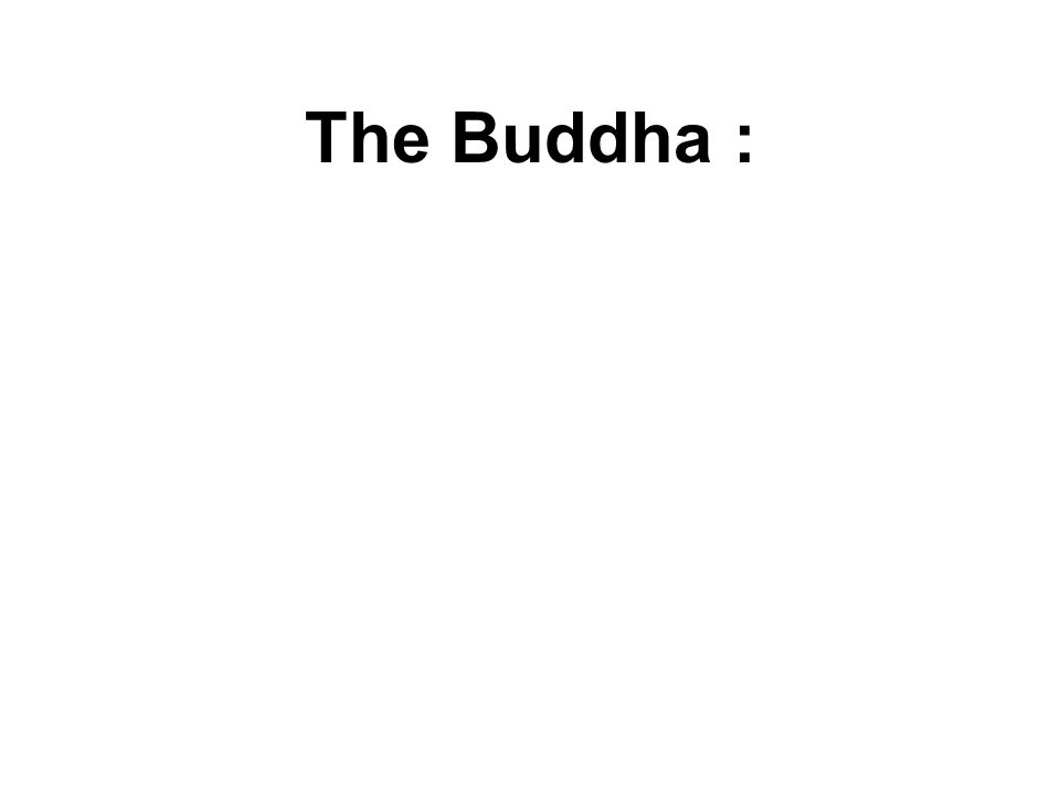 The Buddha : He who sees me, sees the Dhamma; He who sees the Dhamma, sees me.
