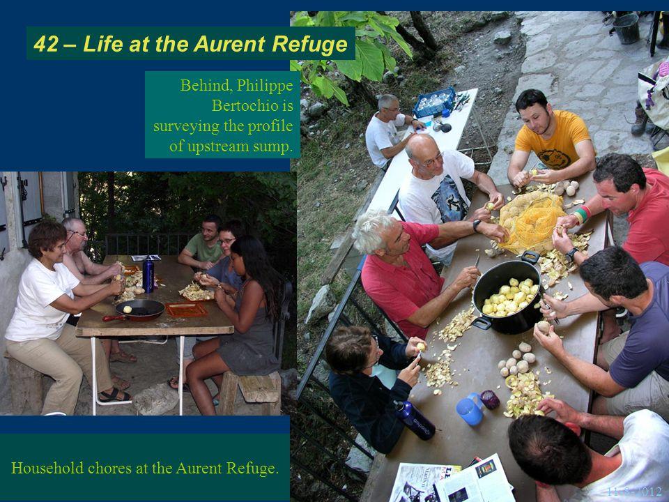 42 – Life at the Aurent Refuge Household chores at the Aurent Refuge.