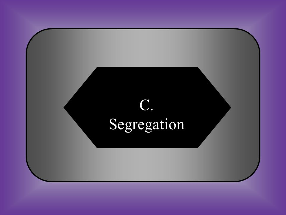 A:B: AmnestyPoll tax #21 Legal separation of races. C:D: SegregationBlack Code