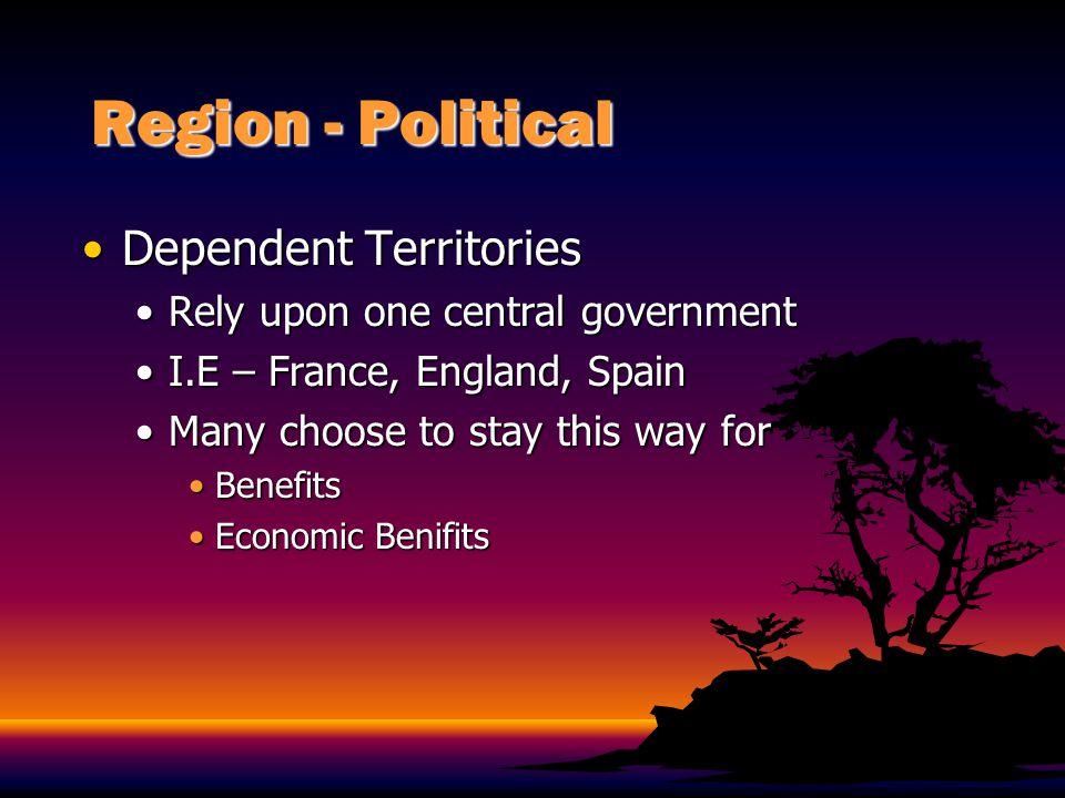 Region - Political Porto RicoPorto Rico CommonwealthCommonwealth Considered Part of the U.S.Considered Part of the U.S.