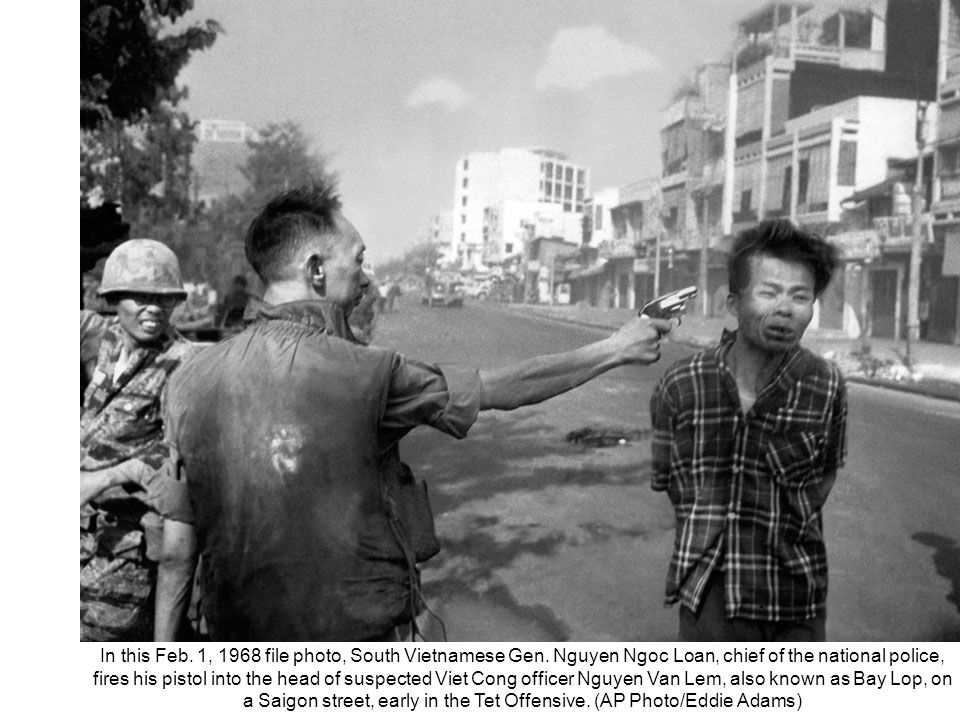 THIS SLIDE AND PRESENTATION WAS PREPARED BY DAVE SABBEN WHO RETAINS COPYRIGHT © ON CREATIVE CONTENT In this Feb. 1, 1968 file photo, South Vietnamese