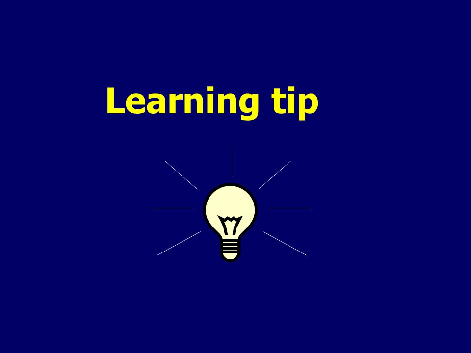 Learning tip