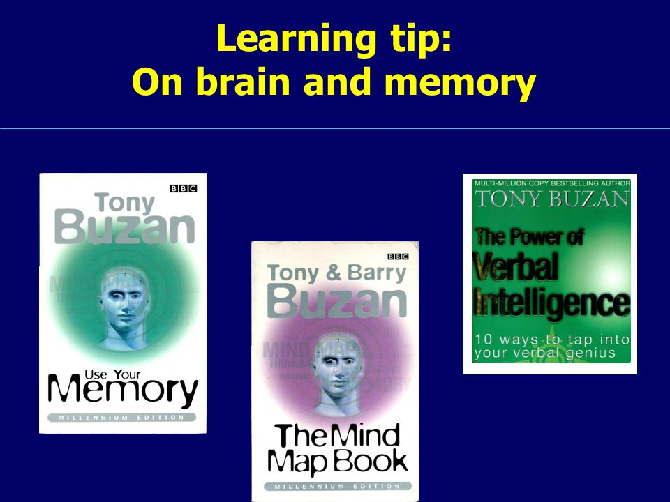 Learning tip: On brain and memory