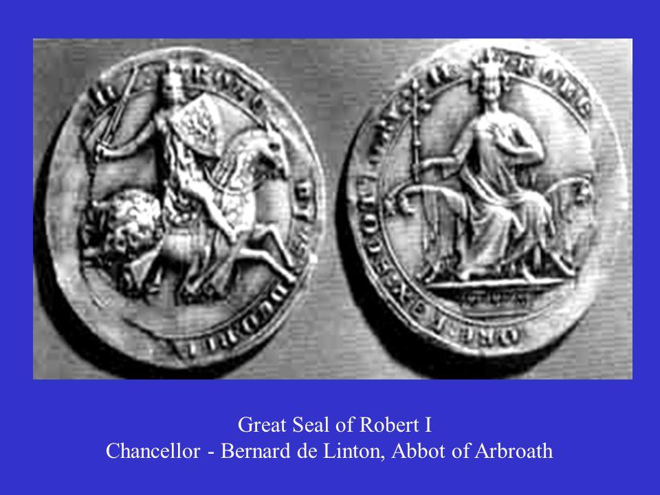 Great Seal of Robert I Chancellor - Bernard de Linton, Abbot of Arbroath