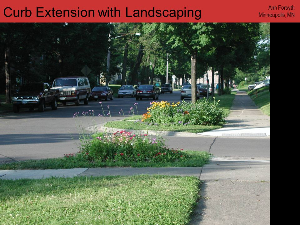 www.annforsyth.net Curb Extension with Landscaping Ann Forsyth Minneapolis, MN