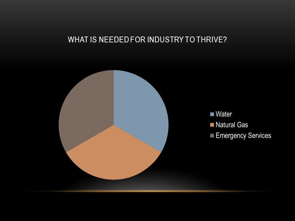 WHAT IS NEEDED FOR INDUSTRY TO THRIVE?