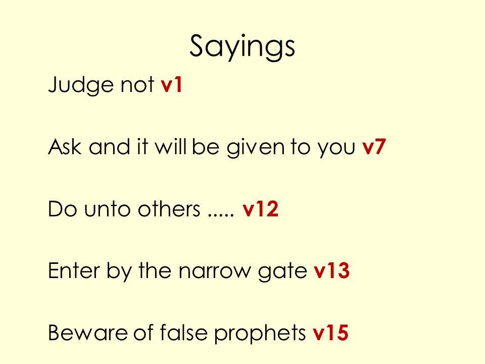 Bible verse Matthew 7 v 24-27.
