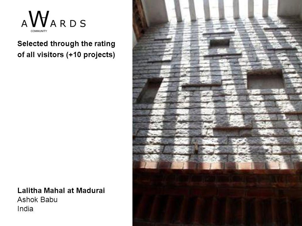 Lalitha Mahal at Madurai Ashok Babu India Selected through the rating of all visitors (+10 projects)