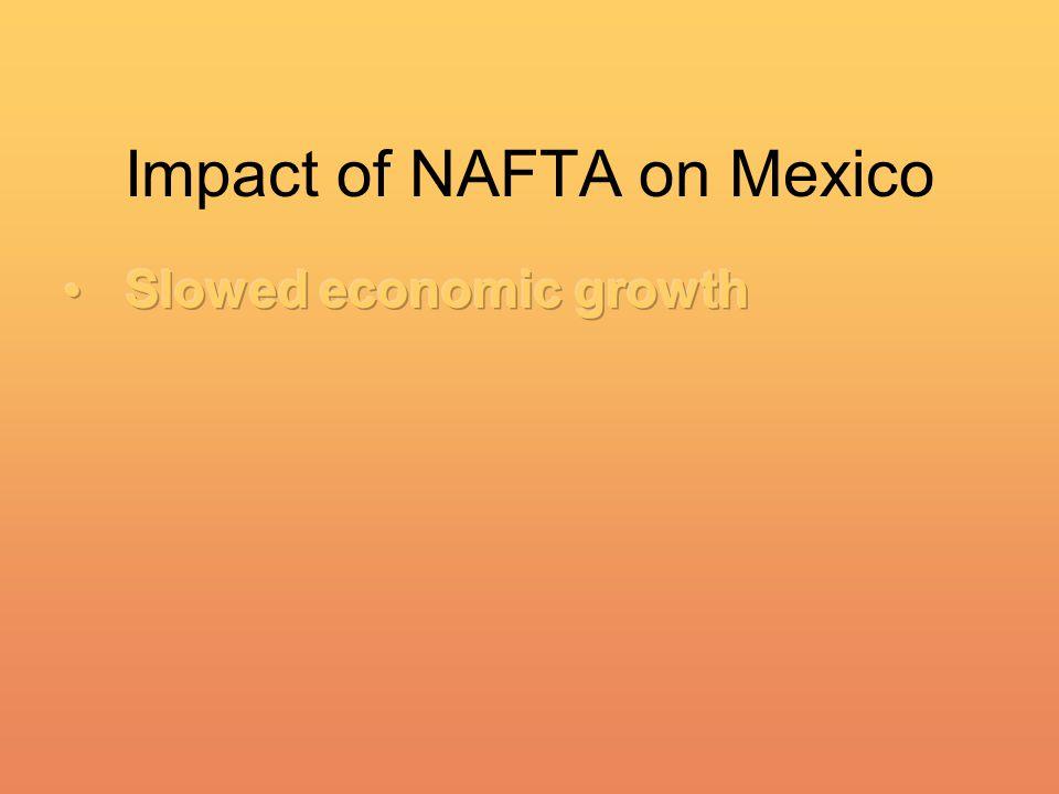 Impact of NAFTA on Mexico