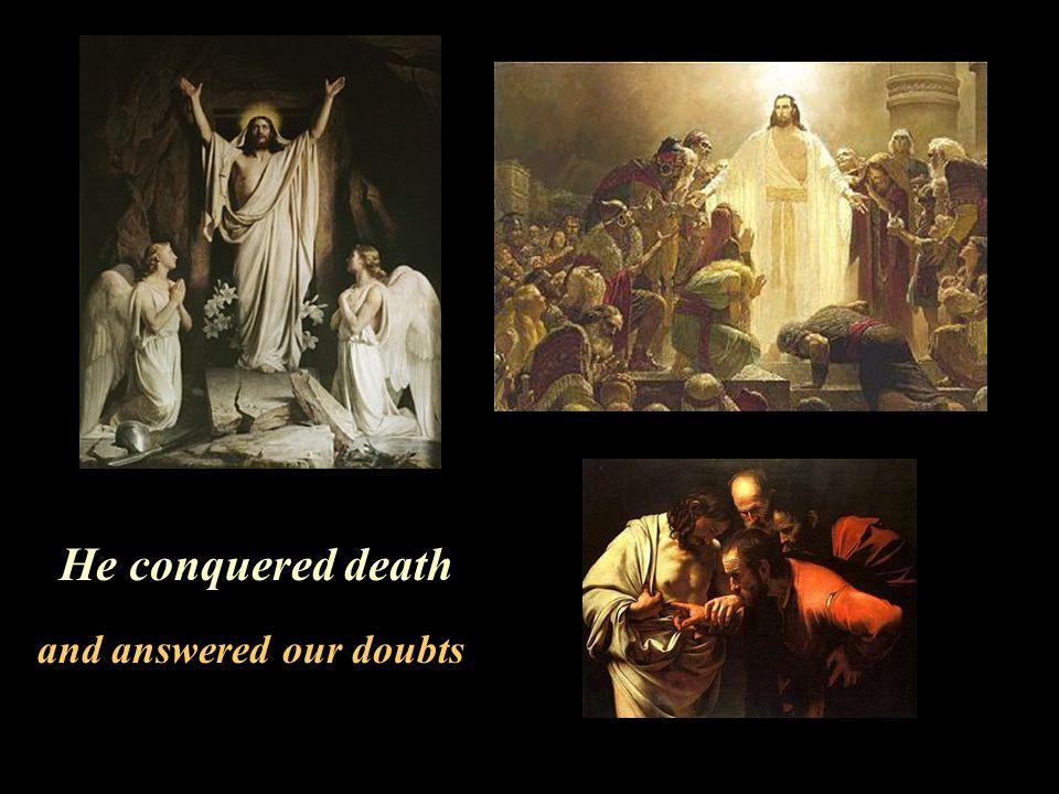 only His perfect sacrifice atones!
