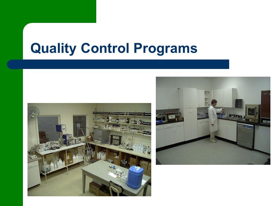 Quality Control Programs