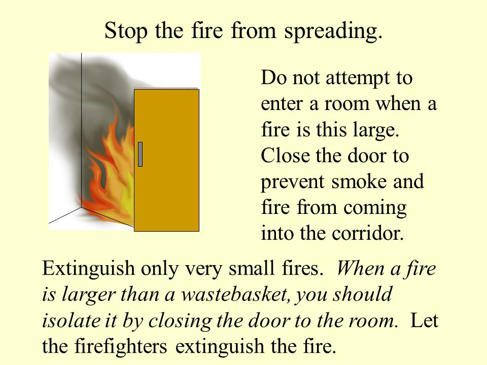  You are trained in the use of extinguishers.  Fire is small (wastebasket size).