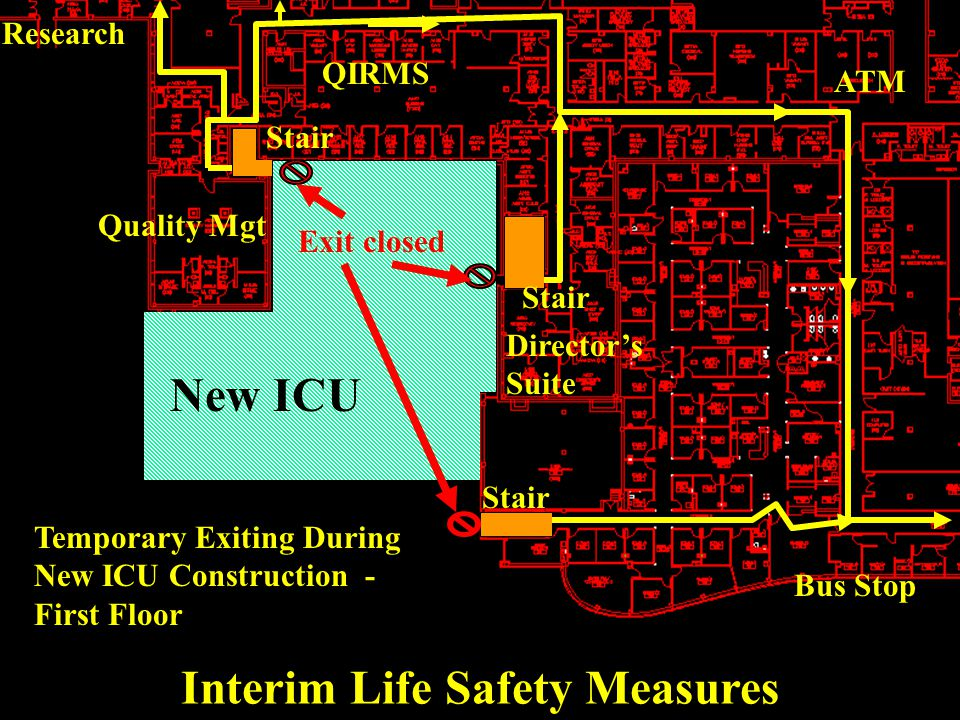 For example, construction and renovation activities may disrupt the normal level of life (fire) safety.