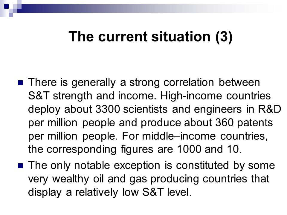 A national S&T policy (5) Except for goal n°3, S&T could and should contribute to the achievement of these goals.